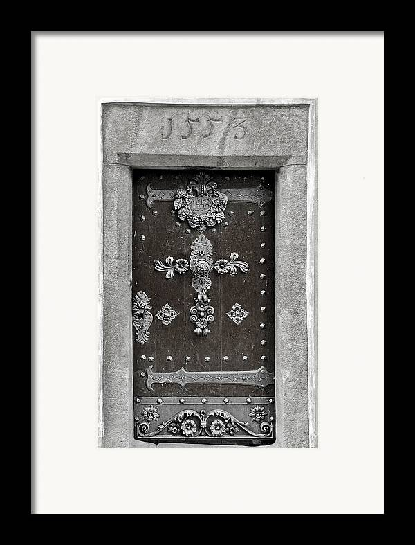 Door Framed Print featuring the photograph The Door - Ceske Budejovice by Christine Till