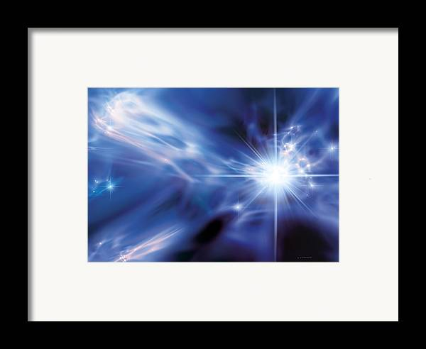Super-massive Star Framed Print featuring the photograph The First Stars, Artwork by Detlev Van Ravenswaay
