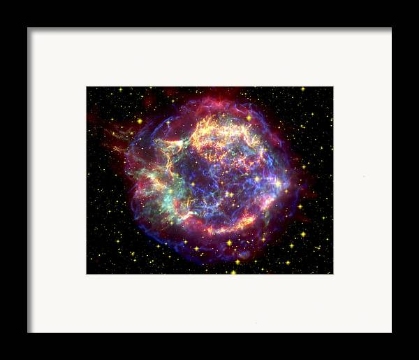 Stars Framed Print featuring the photograph The Many Sides Of The Supernova Remnant by Nasa