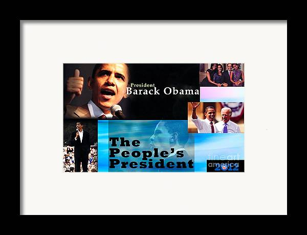President Framed Print featuring the photograph The People's President by Terry Wallace