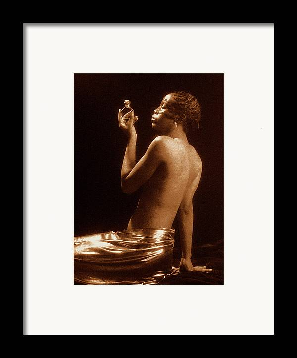Erotic Fine Art Framed Print featuring the photograph The Perfume Bottle by Stuart Brown