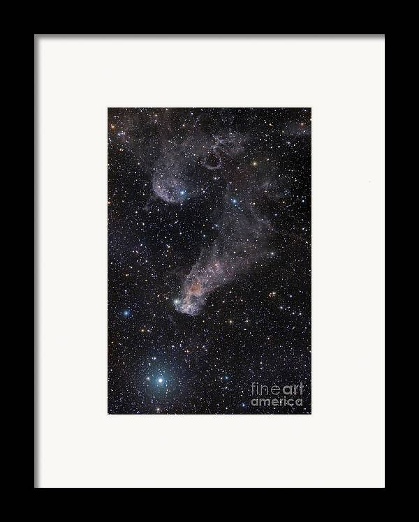 Astronomy Framed Print featuring the photograph The Question Mark Nebula In Orion by John Davis