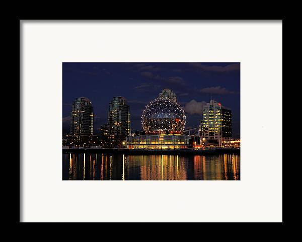 Telus Framed Print featuring the photograph The Telus Science Center At Night by Lawrence Christopher