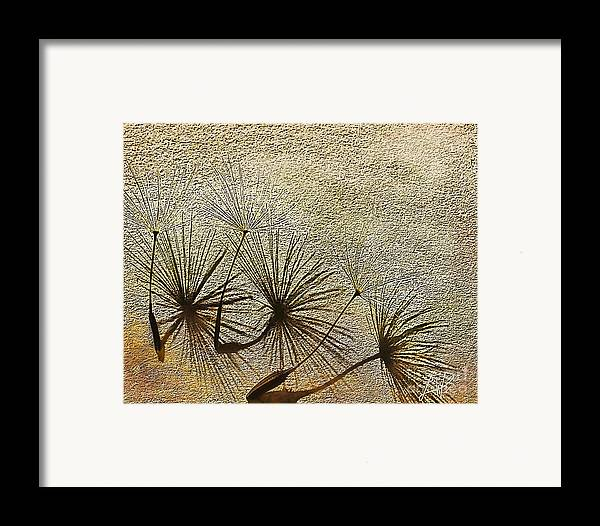 Nature Framed Print featuring the digital art Three Wishes by Artist and Photographer Laura Wrede