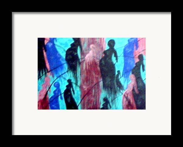 Pregnancy Framed Print featuring the painting Ties That Bind by Annette McElhiney