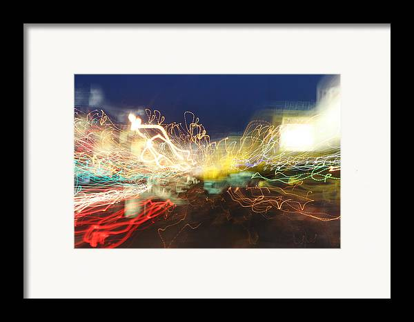 Neon Framed Print featuring the photograph Time Tunnel by Rick Rauzi