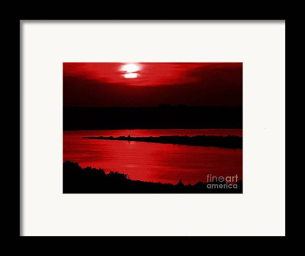 Sunset Framed Print featuring the photograph Topsail Island Blood-red Sunset by Julie Dant
