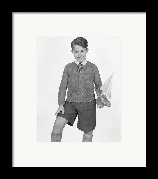 Child Framed Print featuring the photograph Toy Yacht by Chaloner Woods