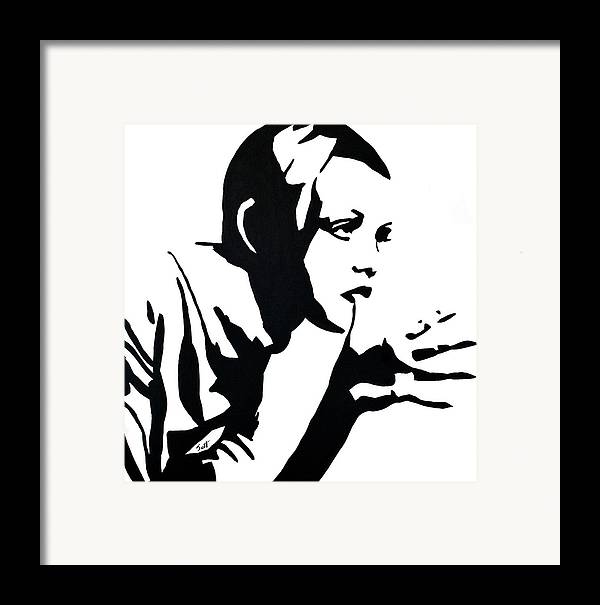 Twiggy Framed Print featuring the painting Twiggy by Jett Vivere