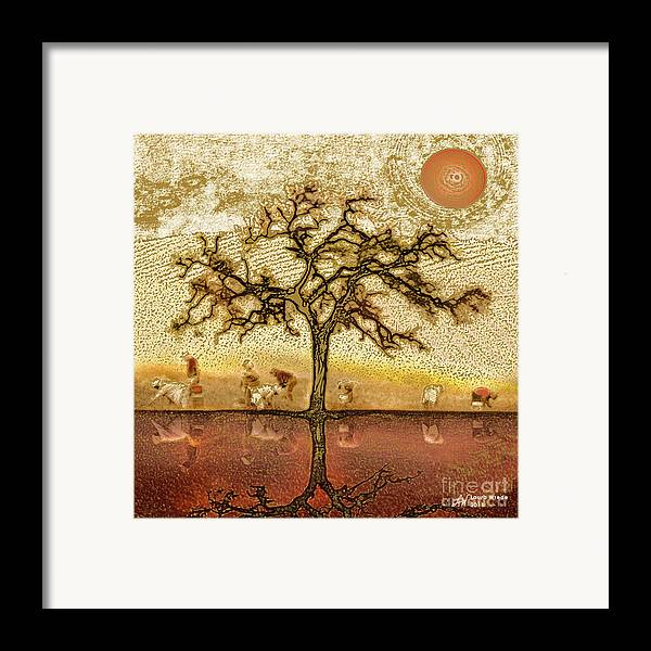 Framed Print featuring the digital art Under The California Sun by Artist and Photographer Laura Wrede