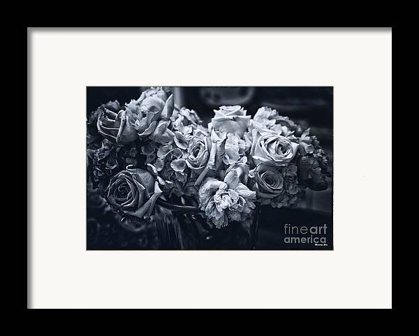 Flowers Framed Print featuring the photograph Vase Of Flowers 2 by Madeline Ellis