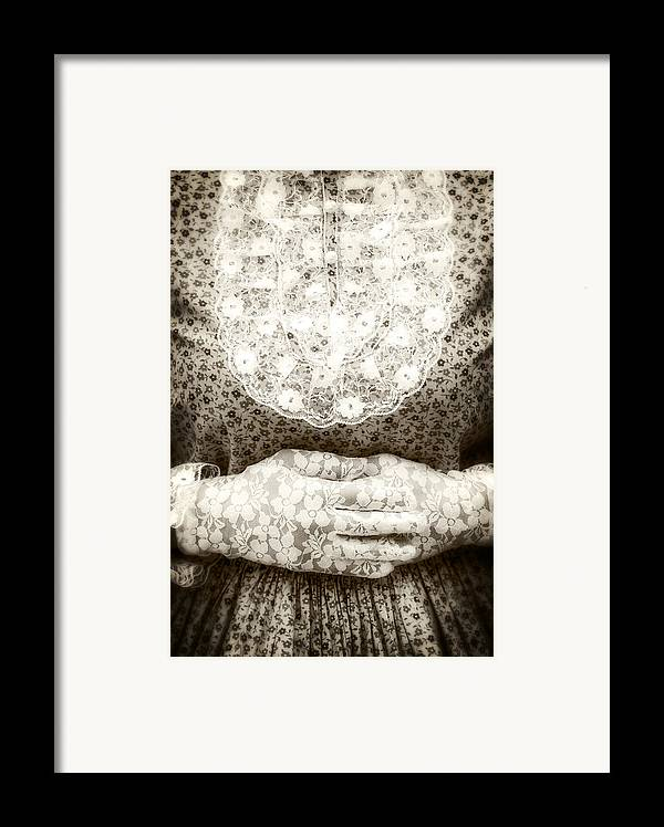 Female Framed Print featuring the photograph Victorian Hands by Joana Kruse