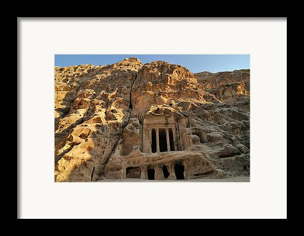 Horizontal Framed Print featuring the photograph View Of Pequeña Petra by Molina