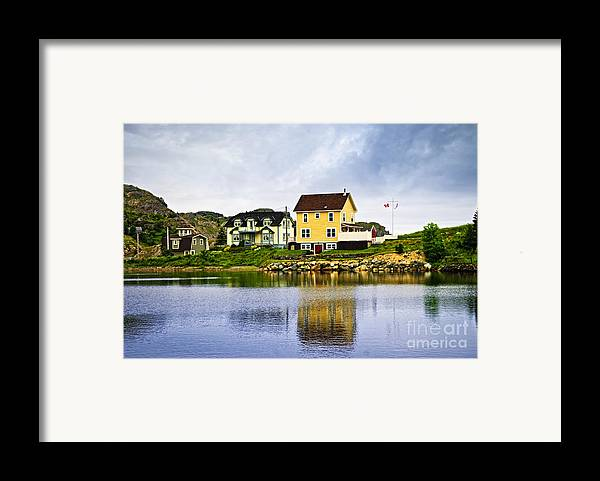 Fishing Framed Print featuring the photograph Village In Newfoundland by Elena Elisseeva