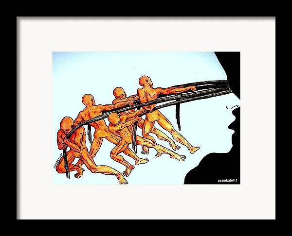 Modern Serfdom Framed Print featuring the digital art Voluntary Blindness To The Real Truth by Paulo Zerbato