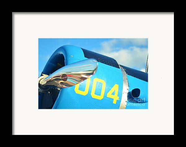Vultee Bt-13 Valiant Framed Print featuring the photograph Vultee Bt-13 Valiant Nose by Lynda Dawson-Youngclaus