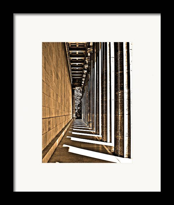 Europe Framed Print featuring the photograph Walhalla Colonnade ... by Juergen Weiss