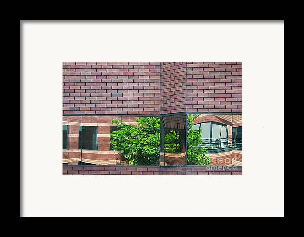 Architecture Framed Print featuring the photograph Wall Warp by Dan Holm