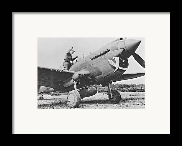 Warhawk P40 1943 Framed Print featuring the photograph Warhawk P40 1943 by Padre Art