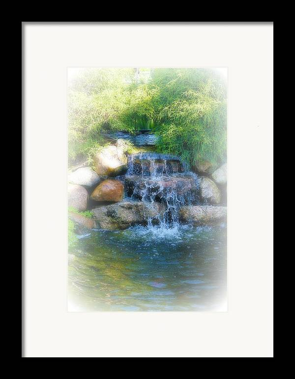 Water Framed Print featuring the photograph Waterfall by Rebecca Frank
