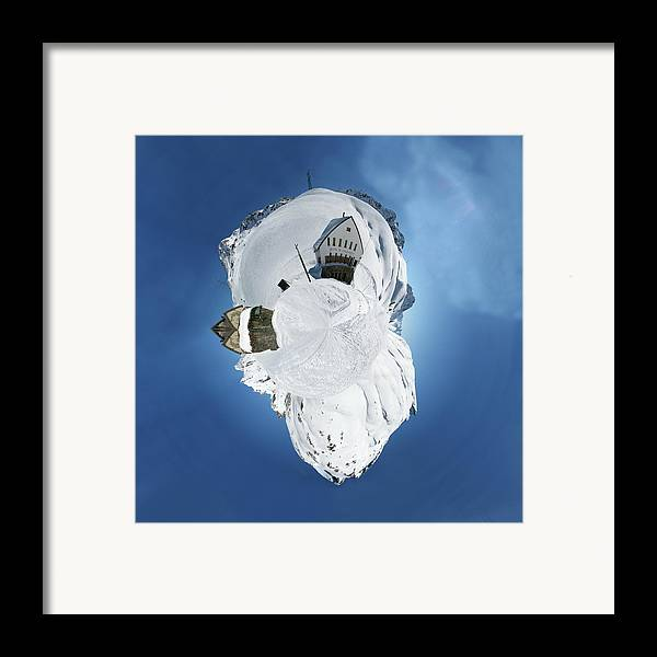 Personalized Framed Print featuring the photograph Wee Winter Hotel by Nikki Marie Smith