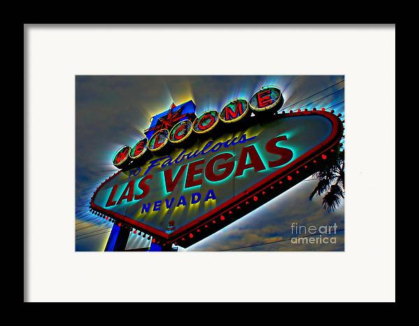 Las Vegas Framed Print featuring the photograph Welcome To Las Vegas by Kevin Moore