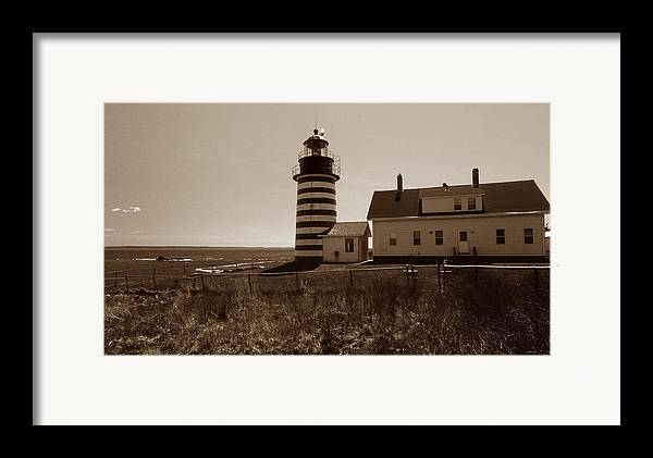 West Quoddy Light Framed Print featuring the photograph West Quoddy Lighthouse by Skip Willits