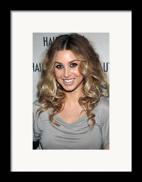 Whitney Port Framed Print featuring the photograph Whitney Port In Attendance by Everett