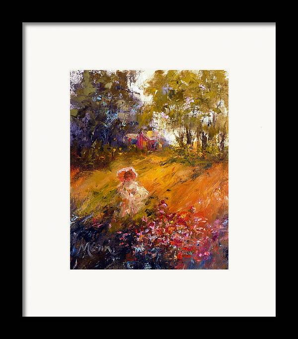 Florals Framed Print featuring the painting Wildflowers by Marie Green