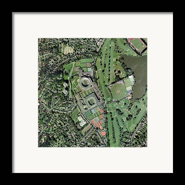 Wimbledon Framed Print featuring the photograph Wimbledon Tennis Complex, Uk by Getmapping Plc