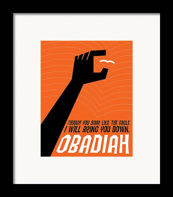 Bible Framed Print featuring the digital art Word Obadiah by Jim LePage