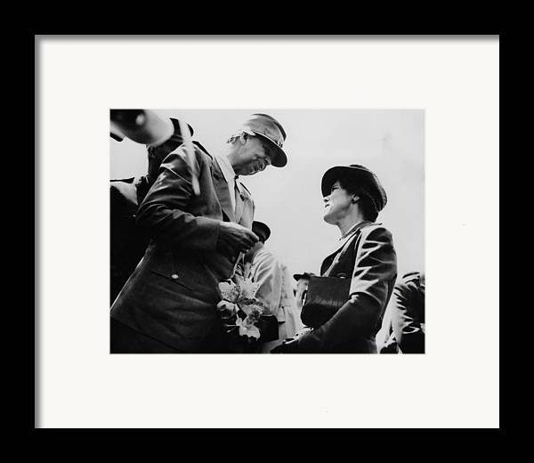 1940s Framed Print featuring the photograph World War II. First Lady Eleanor by Everett