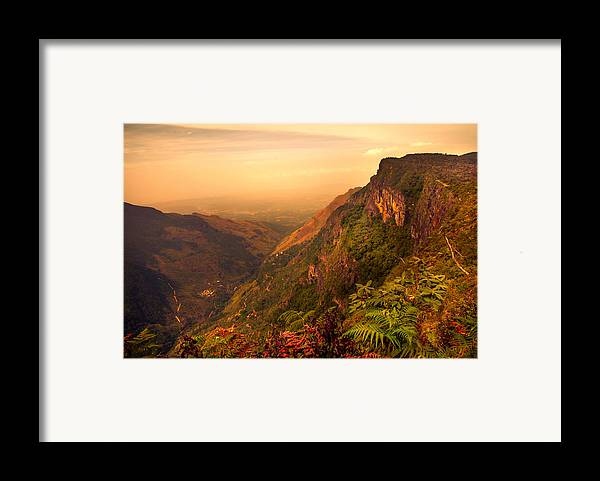 Nature Framed Print featuring the photograph Worlds End. Horton Plains National Park. Sri Lanka by Jenny Rainbow