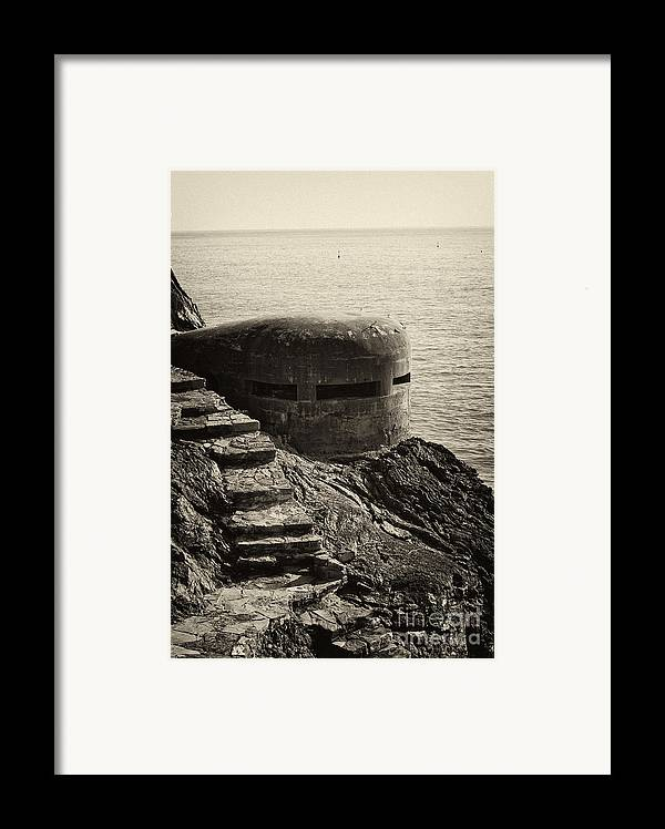 Wwii Framed Print featuring the photograph Wwii Pill Box by Leslie Leda