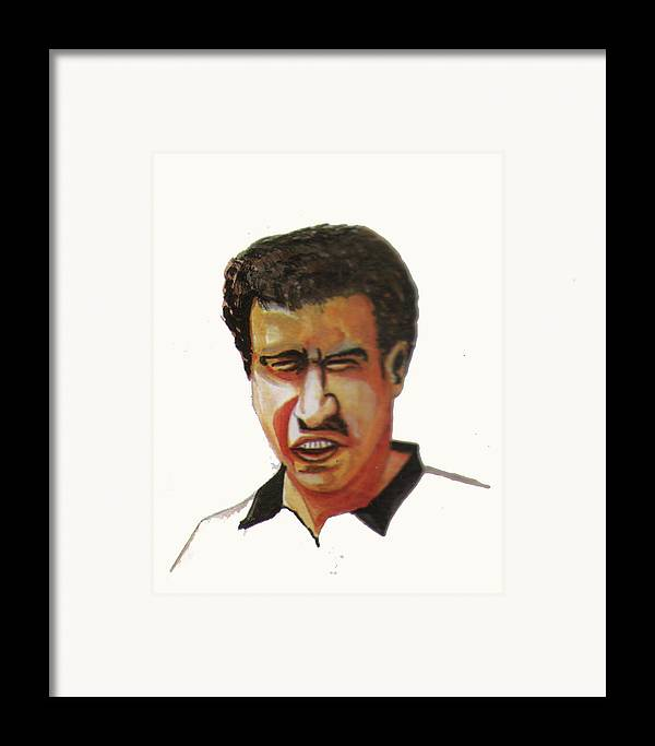 Sports Framed Print featuring the painting Younes El Aynaoui by Emmanuel Baliyanga
