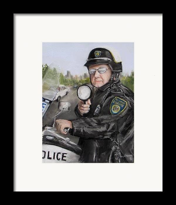 Police Framed Print featuring the painting Gotcha by Jack Skinner