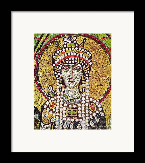 6th Century Framed Print featuring the painting Theodora (c508-548) by Granger