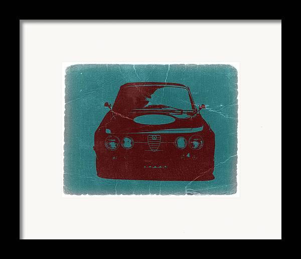 Alfa Romeo Gtv Framed Print featuring the photograph Alfa Romeo Gtv by Naxart Studio