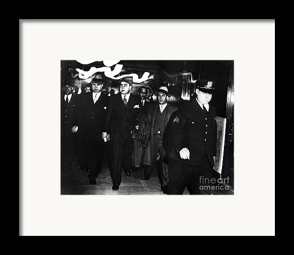 1931 Framed Print featuring the photograph Alphonse Capone (1899-1947) by Granger