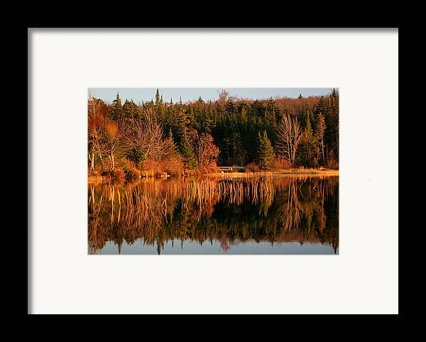 Adirondacks Framed Print featuring the photograph Autumn Lake by Kate Leikin