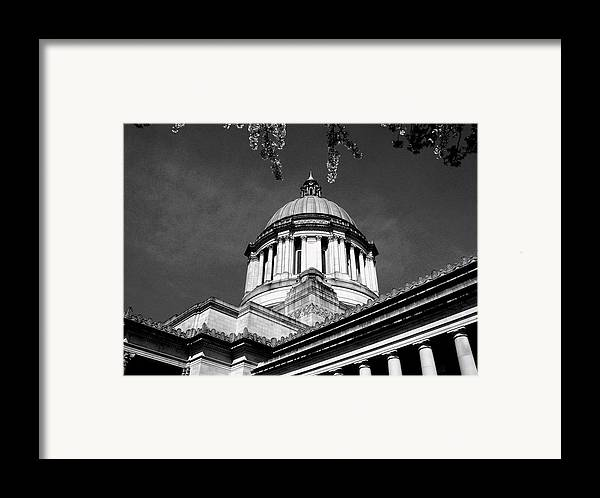 Capital Framed Print featuring the photograph Black And White by Kevin D Davis