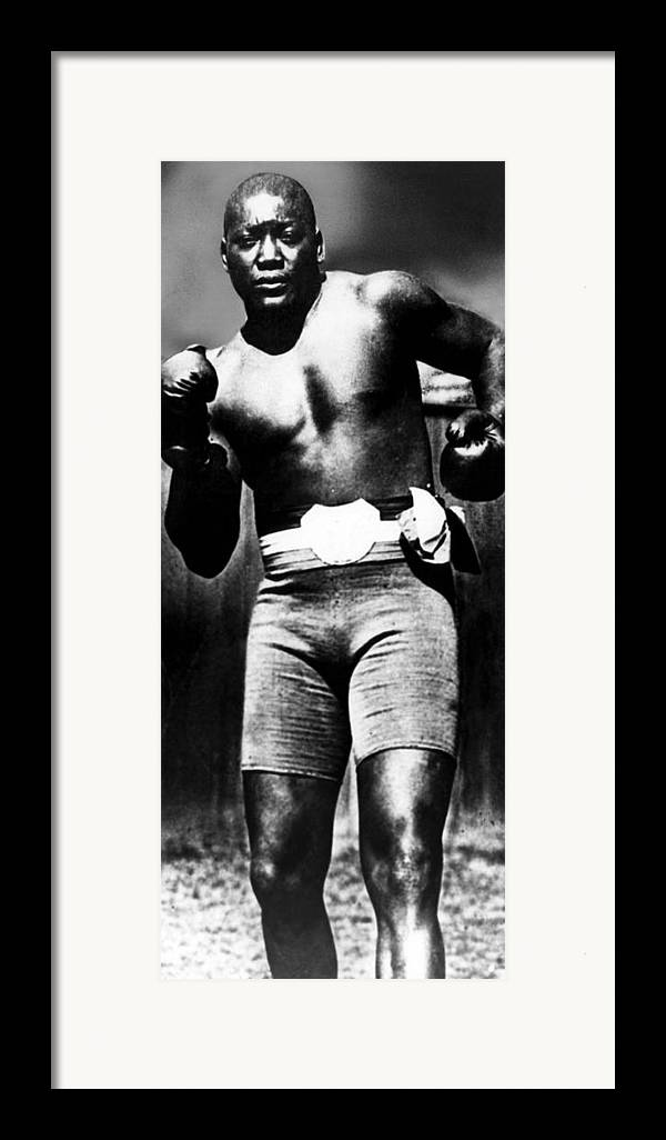 1910s Framed Print featuring the photograph Boxer Jack Johnson, Ca. 1910s by Everett