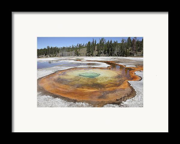 Unesco Framed Print featuring the photograph Chromatic Pool Hot Spring, Upper Geyser by Richard Roscoe