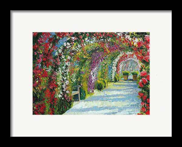 Oil Framed Print featuring the painting Germany Baden-baden Rosengarten by Yuriy Shevchuk