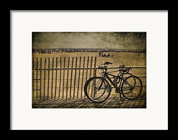 Fence Framed Print featuring the photograph Gone Swimming by Evelina Kremsdorf