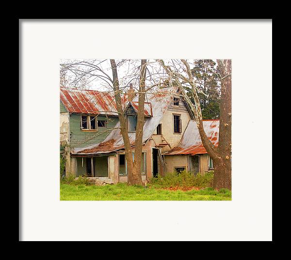 Ozarks Framed Print featuring the photograph Haunted House by Marty Koch