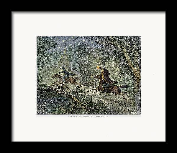 1876 Framed Print featuring the photograph Irving: Sleepy Hollow by Granger