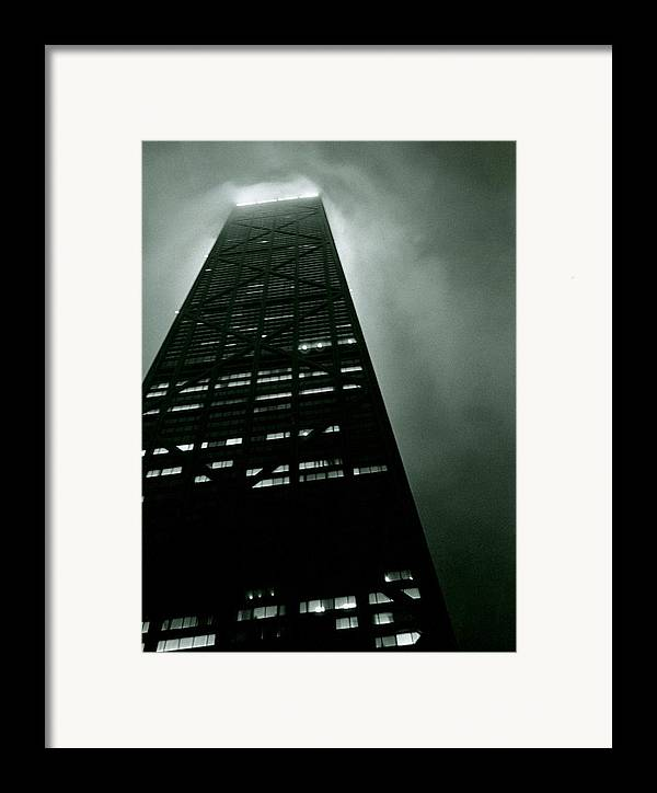 Geometric Framed Print featuring the photograph John Hancock Building - Chicago Illinois by Michelle Calkins