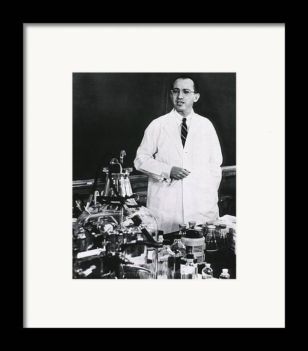 History Framed Print featuring the photograph Jonas E. Salk 1914-1995, American by Everett