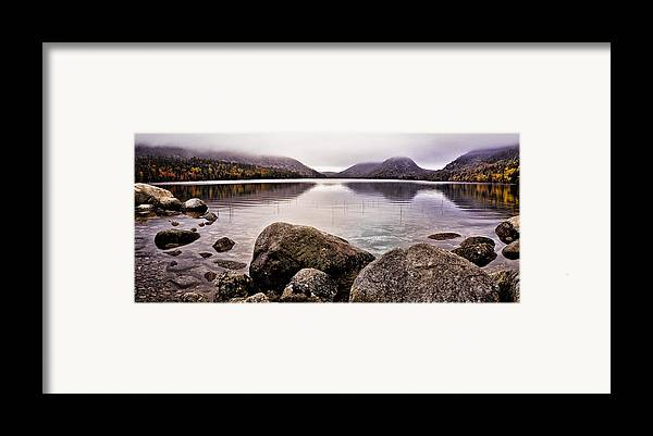 Jordan Pond Framed Print featuring the photograph Jordan Pond by Chad Tracy